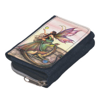 Dragon's Orbs Dragon Fairy Fantasy Art Wallets