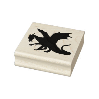Dragons Rubber Stamp