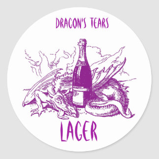 DRAGON'S TEARS ~ STICKER ~ GREAT HOME BREW LABELS!