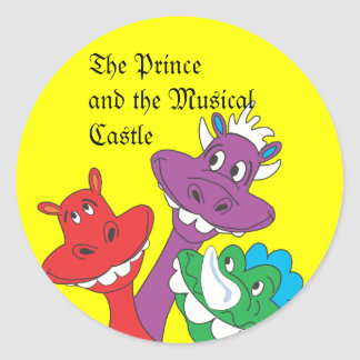 DRAGONS, The Prince and the Musical Castle Classic Round Sticker