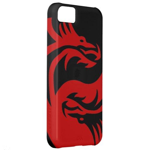 Dragons tribaux Yin Yang (personnaliser il !) Coque Pour iPhone 5C