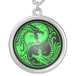 Dragons, vert et noir de Yin Yang Colliers