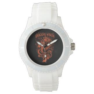 Dragons Wrath Orange Wrist Watches