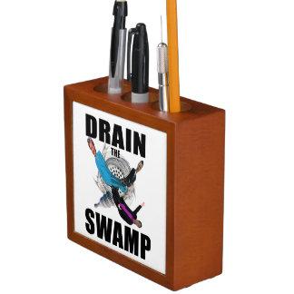 Drain the Swamp President Trump Desk Organizer