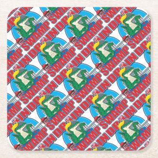 Drain-The-Swamp Square Paper Coaster