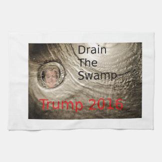 Drain The Swamp Trump-Clinton Political Design Kitchen Towel