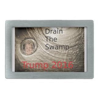 Drain The Swamp Trump-Clinton Political Design Rectangular Belt Buckles