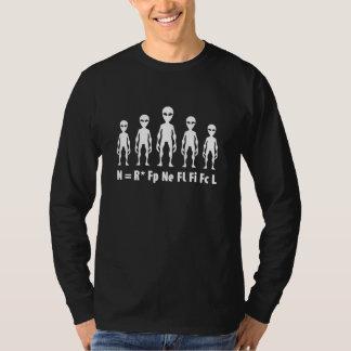 Drake Equation Alien Civilizations Formula T-Shirt