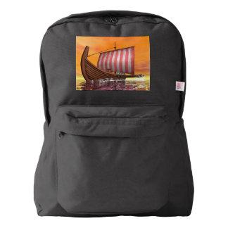 Drakkar or viking ship - 3D render Backpack