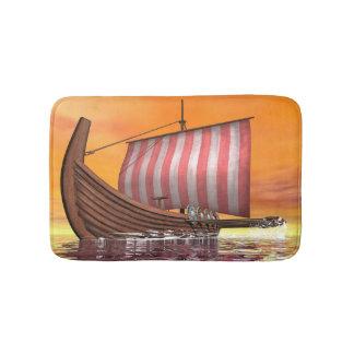 Drakkar or viking ship - 3D render Bath Mat