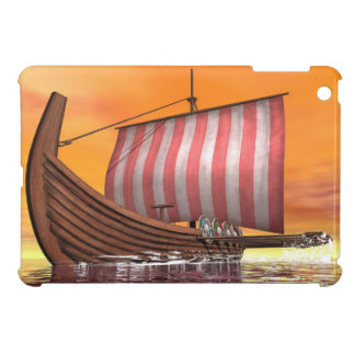 Drakkar or viking ship - 3D render Case For The iPad Mini