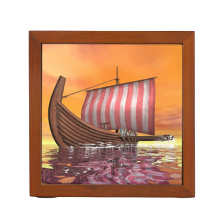 Drakkar or viking ship - 3D render Desk Organizer