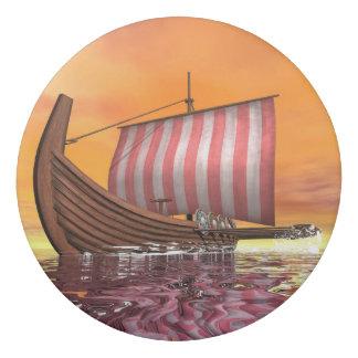 Drakkar or viking ship - 3D render Eraser