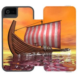 Drakkar or viking ship - 3D render Incipio Watson™ iPhone 5 Wallet Case