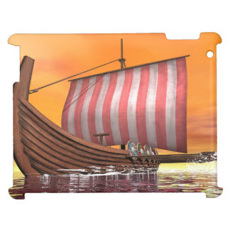 Drakkar or viking ship - 3D render iPad Covers