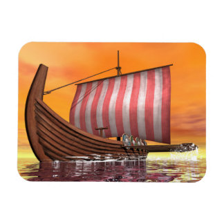 Drakkar or viking ship - 3D render Magnet