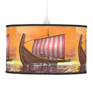 Drakkar or viking ship - 3D render Pendant Lamp