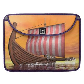 Drakkar or viking ship - 3D render Sleeve For MacBooks