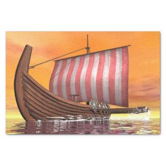 Drakkar or viking ship - 3D render Tissue Paper