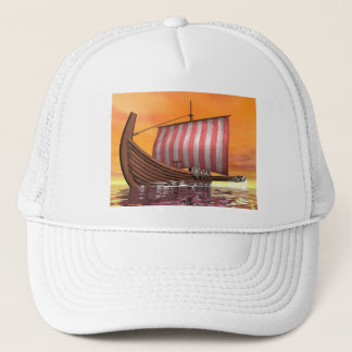 Drakkar or viking ship - 3D render Trucker Hat