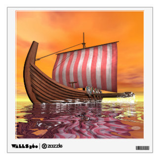 Drakkar or viking ship - 3D render Wall Decal