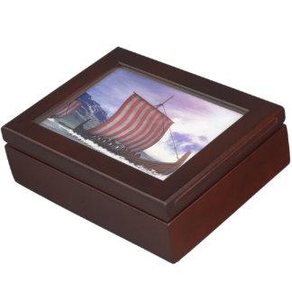 Drakkars - 3D render Keepsake Boxes