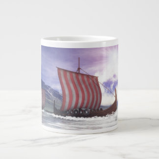 Drakkars - 3D render Large Coffee Mug