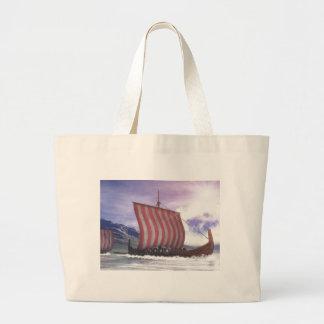 Drakkars - 3D render Large Tote Bag