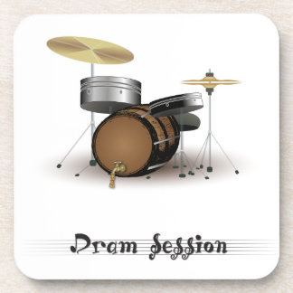 Dram session drink coaster