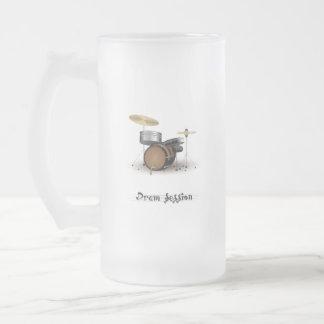 Dram session frosted glass beer mug