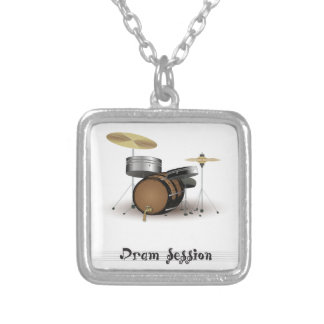 Dram session silver plated necklace