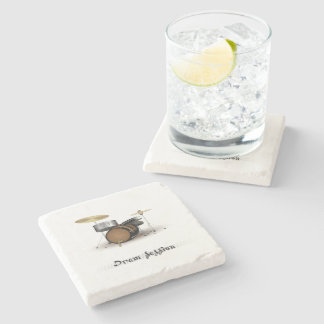 Dram session stone beverage coaster