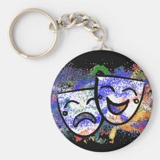 Drama: A Splash of Technicolor Keychain