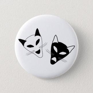 Drama Cat Masks 2 Inch Round Button