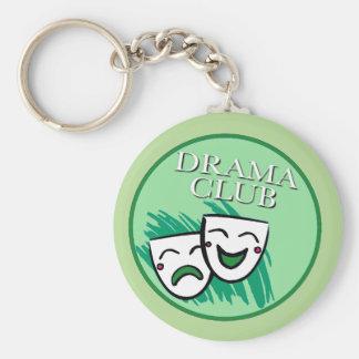 Drama Club Badge in Green Keychain
