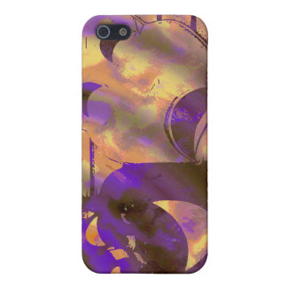 drama comedy masks purple yellow cover for iPhone 5/5S