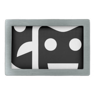 Drama Faces Rectangular Belt Buckle