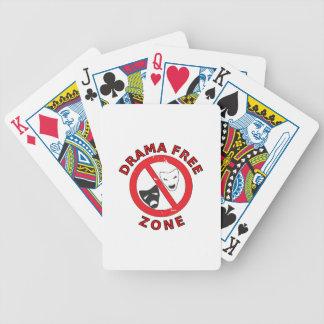 Drama Free Zone Bicycle Playing Cards