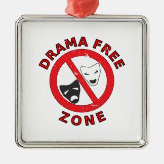 Drama Free Zone Metal Ornament