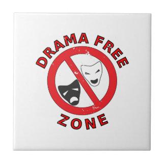 Drama Free Zone Tile