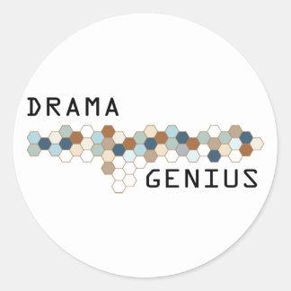 Drama Genius Classic Round Sticker