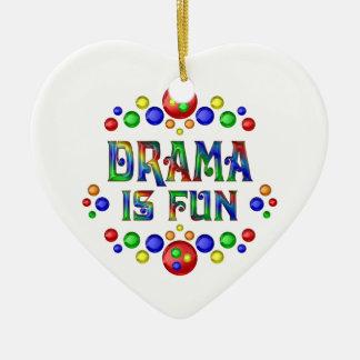 Drama is Fun Ceramic Ornament