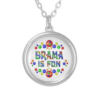 Drama is Fun Silver Plated Necklace