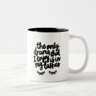 Drama Lashes Two-Tone Coffee Mug