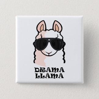 Drama Llama 2 Inch Square Button