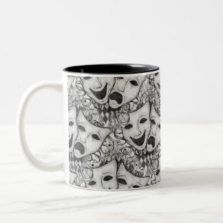Drama Mask B&W Mug