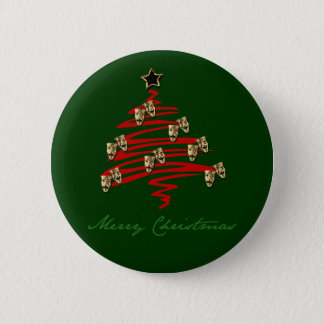 Drama Mask Christmas Tree 2 Inch Round Button