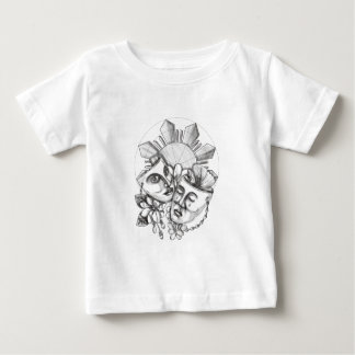 Drama Mask Hibiscus Sampaguita Flower Philippine S Baby T-Shirt
