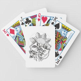 Drama Mask Hibiscus Sampaguita Flower Philippine S Bicycle Playing Cards