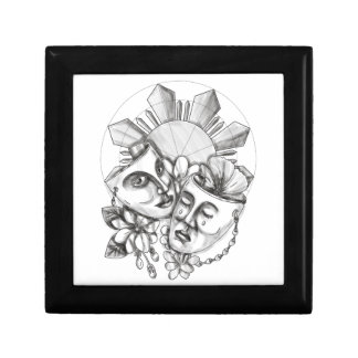 Drama Mask Hibiscus Sampaguita Flower Philippine S Gift Boxes